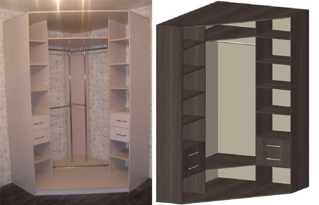 Фото угловых шкафов купе в спальню внутри