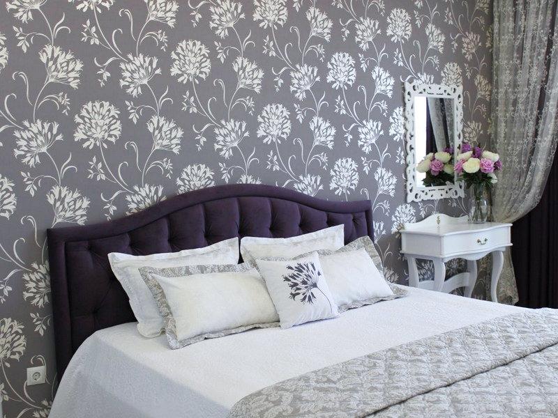 это какой цвет обоев выбрать для спальни фото что комнате бледно-фиолетовыми