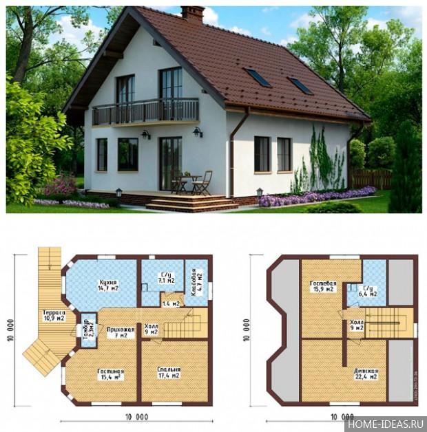проекты домов с мансардой чертежи и фото катюша спасибо